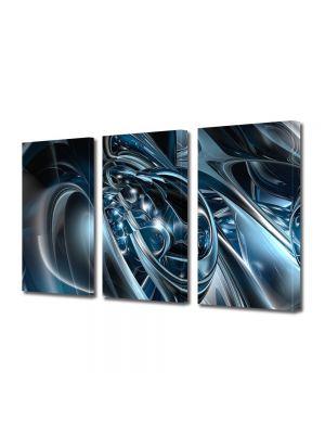 Set Tablouri Multicanvas 3 Piese Abstract Decorativ Metal topit