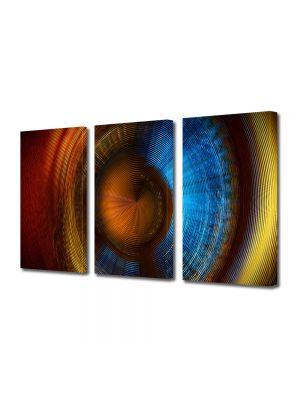 Set Tablouri Multicanvas 3 Piese Abstract Decorativ Membrana