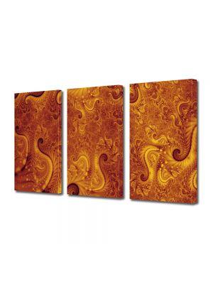 Set Tablouri Multicanvas 3 Piese Abstract Decorativ Pe Marte