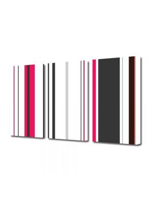 Set Tablouri Multicanvas 3 Piese Abstract Decorativ Tapet