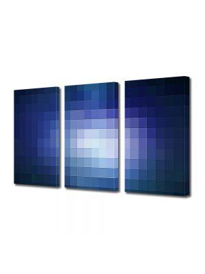 Set Tablouri Multicanvas 3 Piese Abstract Decorativ Lumina pixelata