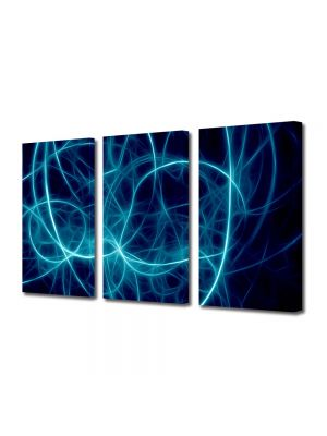 Set Tablouri Multicanvas 3 Piese Abstract Decorativ Joc de lumini