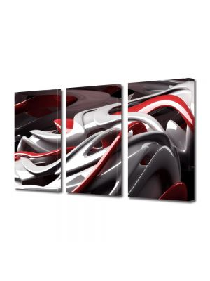Set Tablouri Multicanvas 3 Piese Abstract Decorativ De plastic
