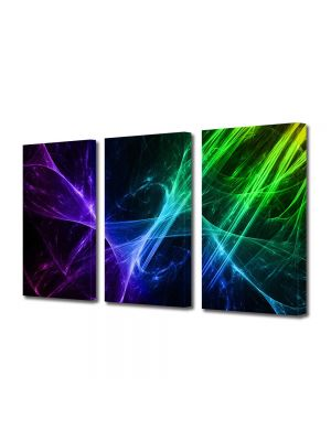 Set Tablouri Multicanvas 3 Piese Abstract Decorativ Energii pozitive