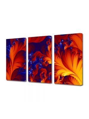 Set Tablouri Multicanvas 3 Piese Abstract Decorativ Petale