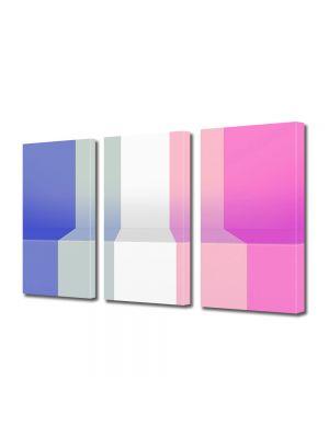 Set Tablouri Multicanvas 3 Piese Abstract Decorativ Pian