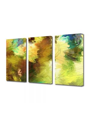 Set Tablouri Multicanvas 3 Piese Abstract Decorativ Dungi de pensula