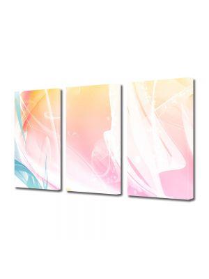 Set Tablouri Multicanvas 3 Piese Abstract Decorativ Decolorat