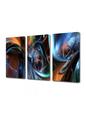 Set Tablouri Multicanvas 3 Piese Abstract Decorativ Arta plastica