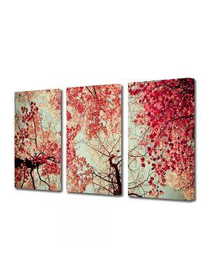 Set Tablouri Multicanvas 3 Piese Abstract Decorativ Toamna
