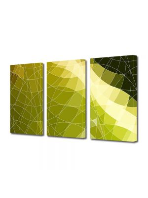 Set Tablouri Multicanvas 3 Piese Abstract Decorativ Origami