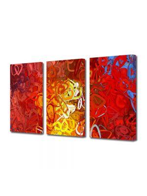 Set Tablouri Multicanvas 3 Piese Abstract Decorativ Ondulat