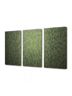 Set Tablouri Multicanvas 3 Piese Abstract Decorativ Tapet cu desene