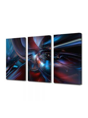 Set Tablouri Multicanvas 3 Piese Abstract Decorativ Fizica