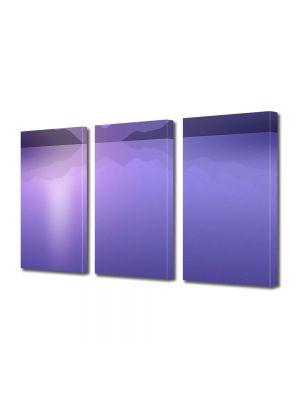 Set Tablouri Multicanvas 3 Piese Abstract Decorativ Peisaj Violet