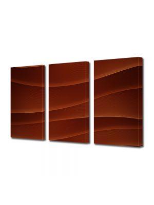 Set Tablouri Multicanvas 3 Piese Abstract Decorativ Dealuri rosii