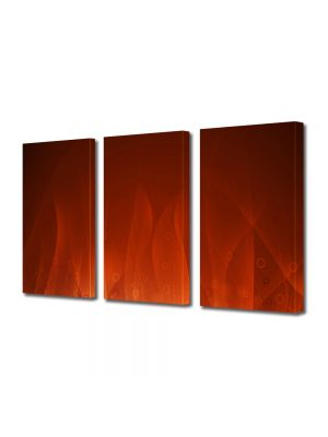 Set Tablouri Multicanvas 3 Piese Abstract Decorativ Flacari