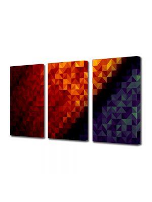 Set Tablouri Multicanvas 3 Piese Abstract Decorativ Patratele