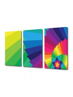 Set Tablouri Multicanvas 3 Piese Abstract Decorativ Elicoidal