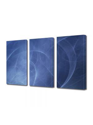 Set Tablouri Multicanvas 3 Piese Abstract Decorativ Unde
