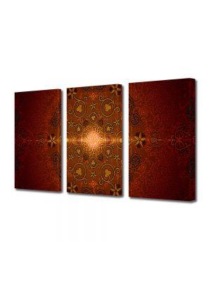 Set Tablouri Multicanvas 3 Piese Abstract Decorativ India