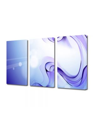 Set Tablouri Multicanvas 3 Piese Abstract Decorativ Fum violet
