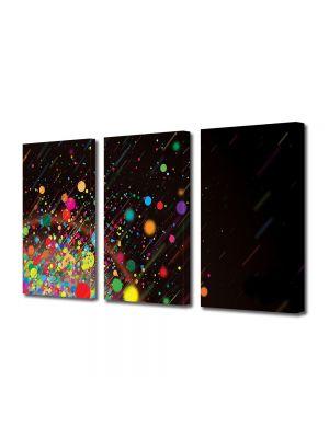 Set Tablouri Multicanvas 3 Piese Abstract Decorativ Stropi de culoare