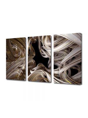Set Tablouri Multicanvas 3 Piese Abstract Decorativ Curbe
