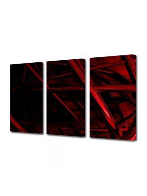 Set Tablouri Multicanvas 3 Piese Abstract Decorativ Schele