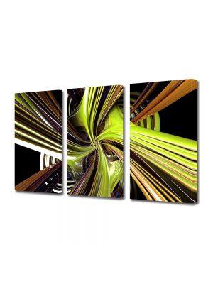 Set Tablouri Multicanvas 3 Piese Abstract Decorativ Vartej
