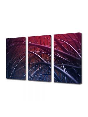 Set Tablouri Multicanvas 3 Piese Abstract Decorativ Spice