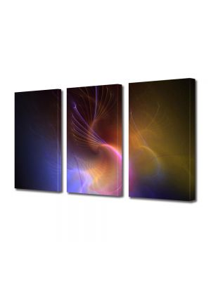 Set Tablouri Multicanvas 3 Piese Abstract Decorativ In spatiu