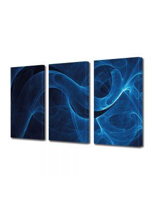 Set Tablouri Multicanvas 3 Piese Abstract Decorativ Fum