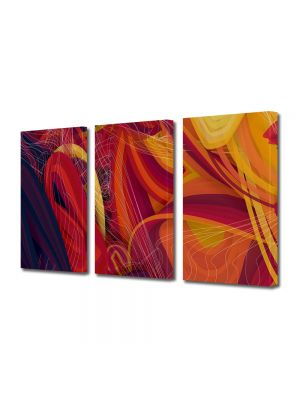 Set Tablouri Multicanvas 3 Piese Abstract Decorativ Spirite