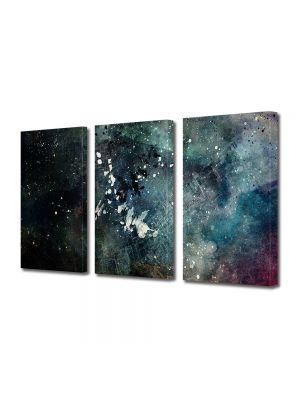Set Tablouri Multicanvas 3 Piese Abstract Decorativ Artistic