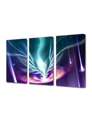 Set Tablouri Multicanvas 3 Piese Abstract Decorativ Energie