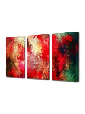 Set Tablouri Multicanvas 3 Piese Abstract Decorativ Pictura contemporana