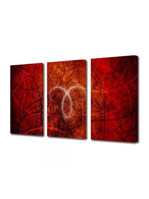 Set Tablouri Multicanvas 3 Piese Abstract Decorativ Taur