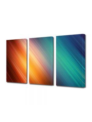 Set Tablouri Multicanvas 3 Piese Abstract Decorativ Lumini nuantate