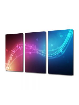 Set Tablouri Multicanvas 3 Piese Abstract Decorativ Urme de lumina