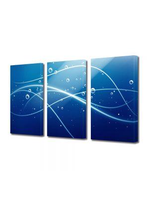 Set Tablouri Multicanvas 3 Piese Abstract Decorativ Sub apa