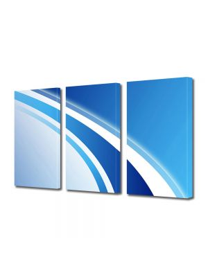 Set Tablouri Multicanvas 3 Piese Abstract Decorativ Logo