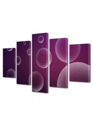 Set Tablouri Multicanvas 5 Piese Abstract Decorativ Bule