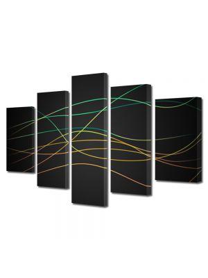 Set Tablouri Multicanvas 5 Piese Abstract Decorativ Dungi fine