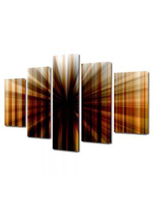 Set Tablouri Multicanvas 5 Piese Abstract Decorativ Gaura neagra