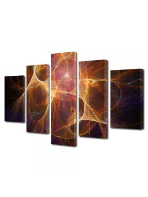 Set Tablouri Multicanvas 5 Piese Abstract Decorativ Univers paralel