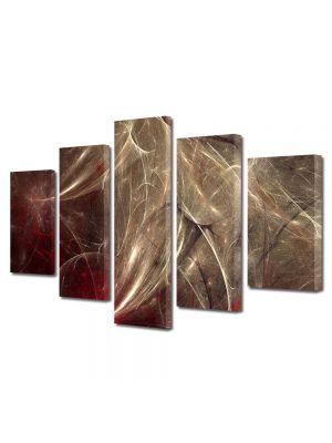 Set Tablouri Multicanvas 5 Piese Abstract Decorativ Aglomeratie