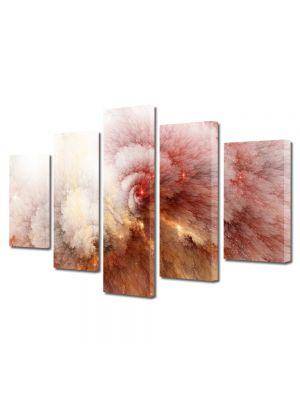 Set Tablouri Multicanvas 5 Piese Abstract Decorativ Explozie