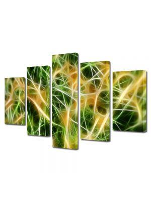 Set Tablouri Multicanvas 5 Piese Abstract Decorativ Curent electric