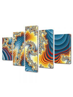 Set Tablouri Multicanvas 5 Piese Abstract Decorativ Diamante